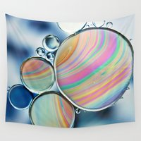 oil Wall Tapestries featuring oil and water by Ingrid Beddoes