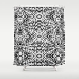 Spider theme B&W Bonitum Ornament #A Shower Curtain