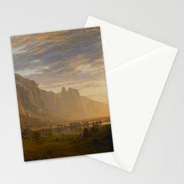 Looking Down Yosemite Valley, California Albert Bierstadt Stationery Cards