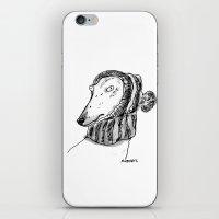 rubyetc iPhone & iPod Skins featuring winter greyhound by rubyetc