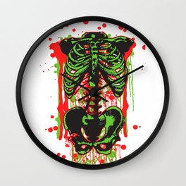 Zombie color Skeleton Headless Legless  Wall Clock