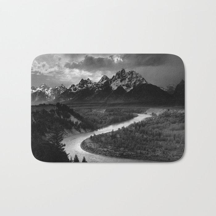 Ansel Adams - The Tetons and Snake River Bath Mat