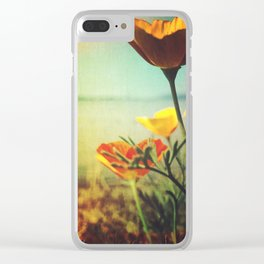 Bayside Poppies Clear iPhone Case