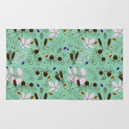 Echinacea mint Rug
