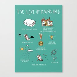 The Love of Running Canvas Print