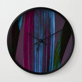 Neon plant Wall Clock