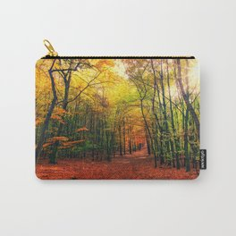 Serene Autumn Forest landscape Carry-All Pouch