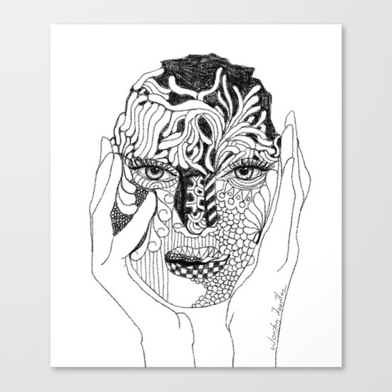 Her Love Mask Canvas Print