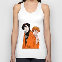 blankets Tank Tops featuring Crash Landings and Shock Blankets by TheScienceofDepiction