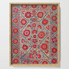 Kermina Suzani Uzbekistan Embroidery Print Serving Tray