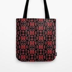 Red & Black Slavic Patterns Tote Bag