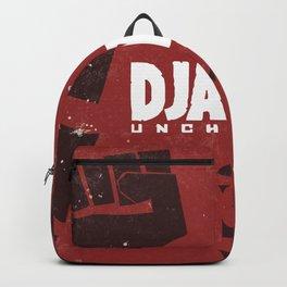 Django Unchained, Quentin Tarantino, minimalist movie poster, Leonardo DiCaprio, spaghetti western Backpack