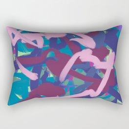 Pink & Teal Thick Abstract Rectangular Pillow