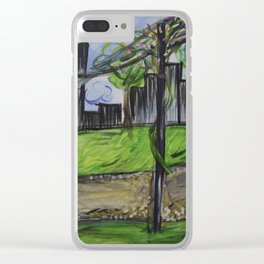 Lunch in the park Clear iPhone Case
