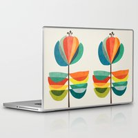 whimsical Laptop & iPad Skins featuring Whimsical Bloom by Picomodi
