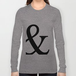 Typography, Ampersand, And Sign Long Sleeve T-shirt