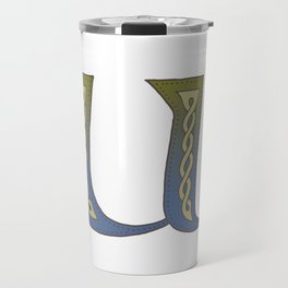 Celtic Knotwork Alphabet - Letter U Travel Mug