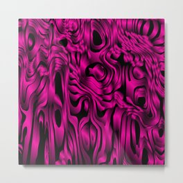 Magical flowing pink avalanche of lines with dark. Metal Print