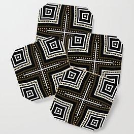 Black White + Gold Coaster