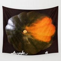 pumpkin Wall Tapestries featuring Pumpkin Pumpkin Pumpkin by ANoelleJay