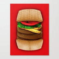 junk food Canvas Prints featuring Junk Food by Andrea Orlic