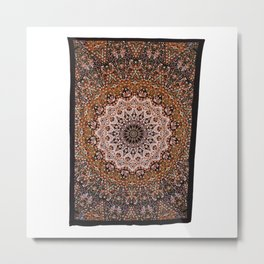 Indian Earth Star Tapestry Metal Print
