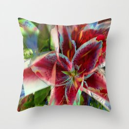 Stargazer in Abstract Throw Pillow