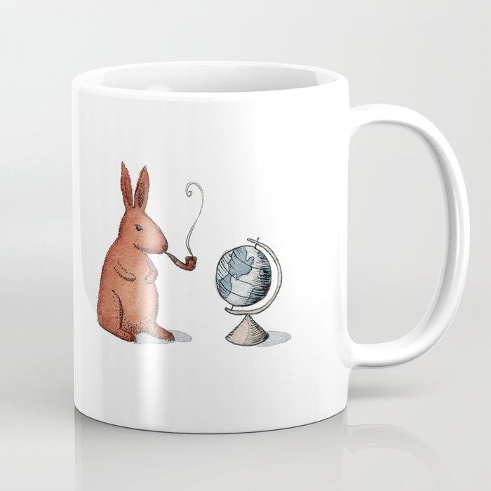Pipe-smoking rabbit Coffee Mug