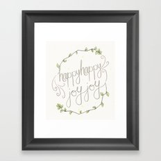 happy happy joy joy Framed Art Print