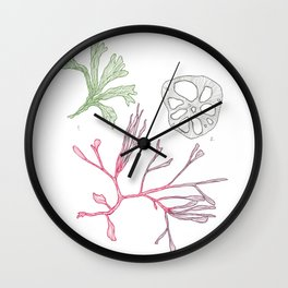 Seaweed and Lotus Root Wall Clock