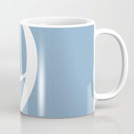 number nine sign on placid blue color background Coffee Mug