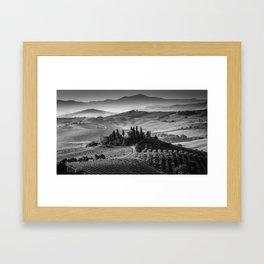 Black and White Tuscany - Italy Framed Art Print