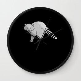 raccoon sweet small bear animal love Wall Clock