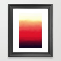 Ombré 2 red Framed Art Print