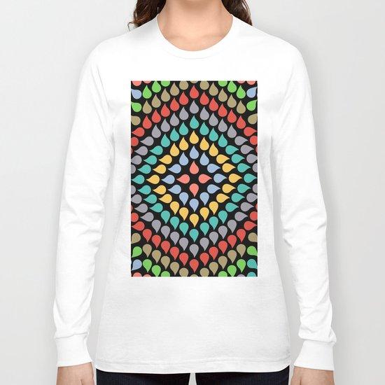Seamless Colorful Raindrops VI Long Sleeve T-shirt