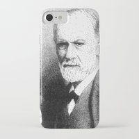 freud iPhone & iPod Cases featuring Sigmund Freud (Pen Pointillism) by Daniel Point