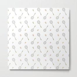 Badminton sport pattern Metal Print