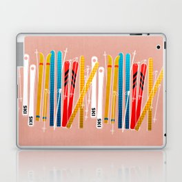 Colorful Ski Illustration and Pattern no 2 Laptop & iPad Skin