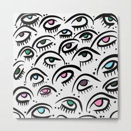 Maybe Baby Multicolored Sweet Eyes Metal Print