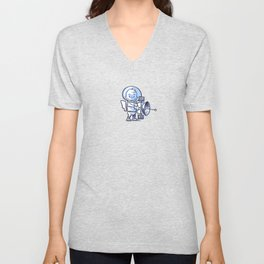 Little Astronaut - Satellite Unisex V-Neck