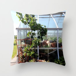 Green Fingers Throw Pillow