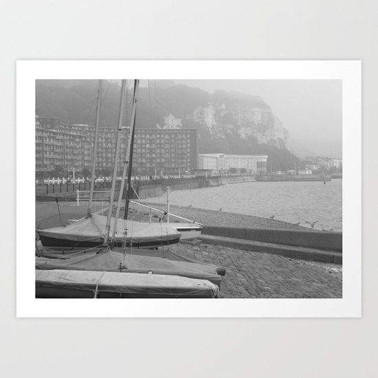 Fog Over Dover Art Print