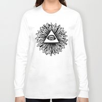 all seeing eye Long Sleeve T-shirts featuring All seeing camera eye by dsimpson
