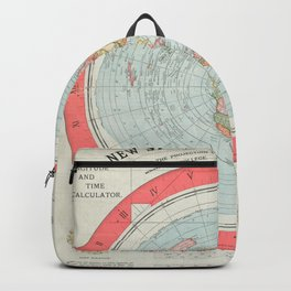 Flat Earth Society Wall Map Backpack