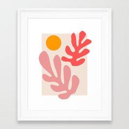 Henri Matisse - Leaves - Blush Framed Art Print
