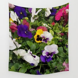 Pansies, Flowers, Bouquet Wall Tapestry
