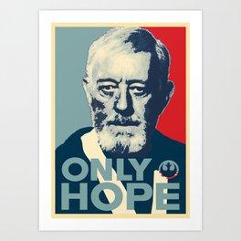 OBI WAN the Only Hope Art Print