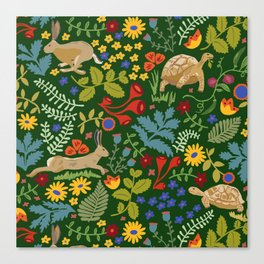 Tortoise and Hare Canvas Print