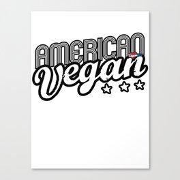 """American Vegan"" Canvas Print"