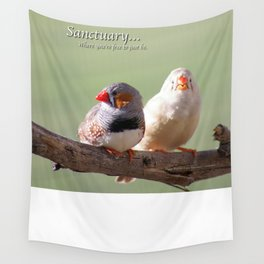 Finches @ Happy Hooves Farm Sanctuary Wall Tapestry